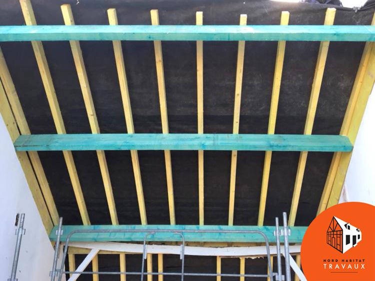 Renovation Charpente Et Toiture Tuiles Sur Bondues 59910 Nord Habitat Travaux